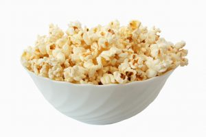 popcorn and plate